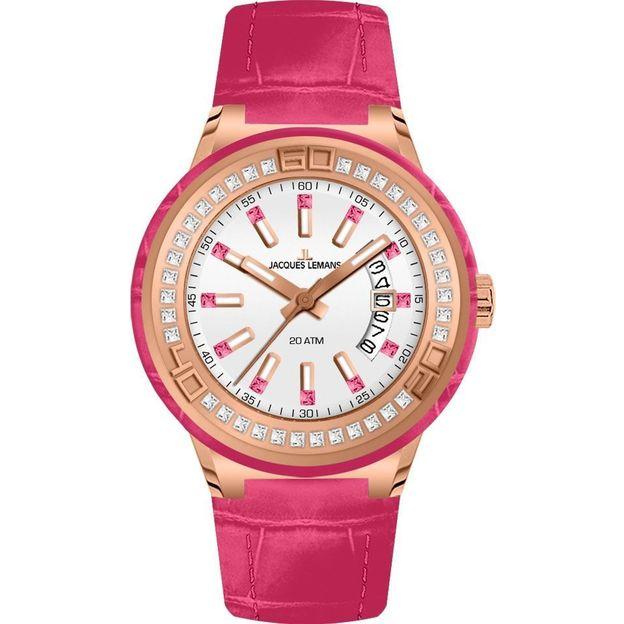 Jacques Lemans Damenuhr Miami Lady pink