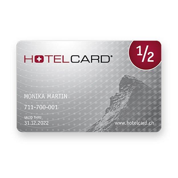 1 Jahres Hotelcard, das Halbtax für Hotels