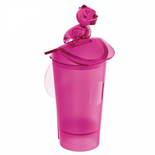 Flori Wattestäbchen Spender von Koziol pink