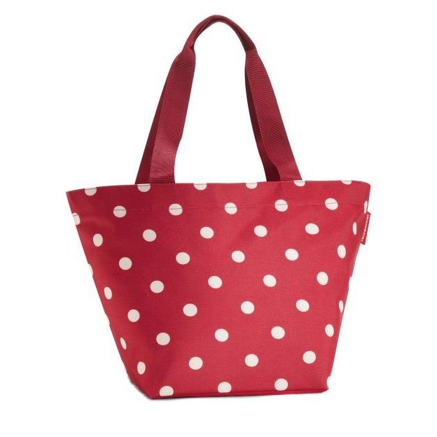 Reisenthel Shopper M rouge à pois blancs