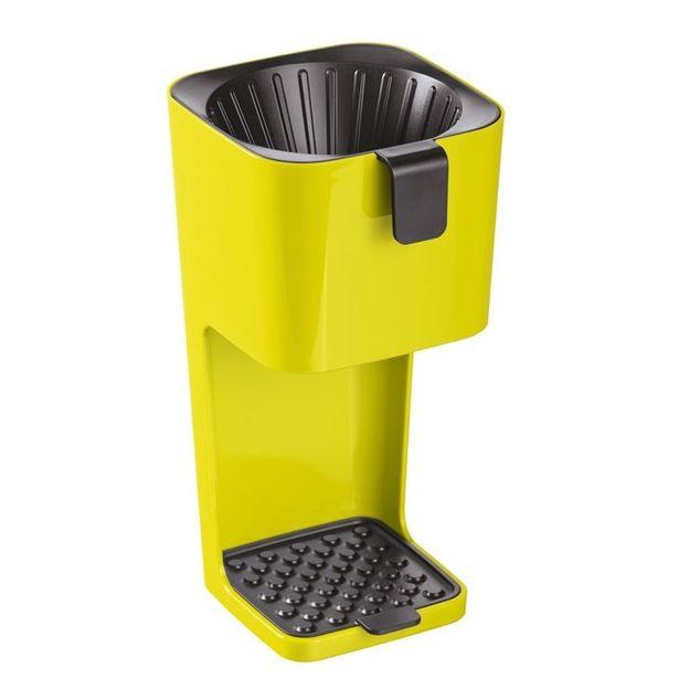 Machine à café UNPLUGGED vert moutarde / noire de Koziol