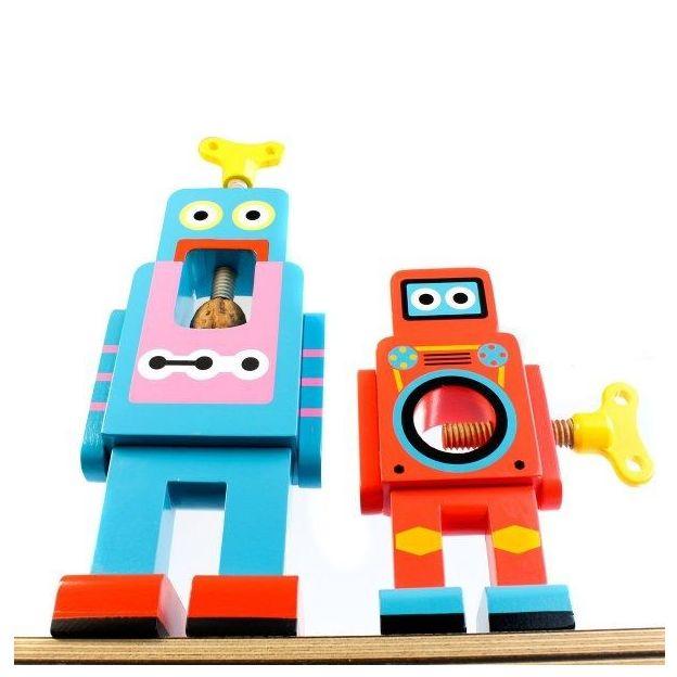 Robot Casse-noisette rouge et jaune