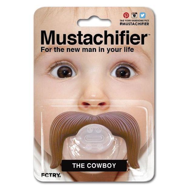 Tétine moustache cowboy