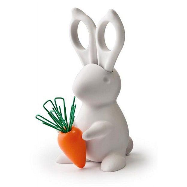 Lapin Secrétaire Desk Bunny blanc