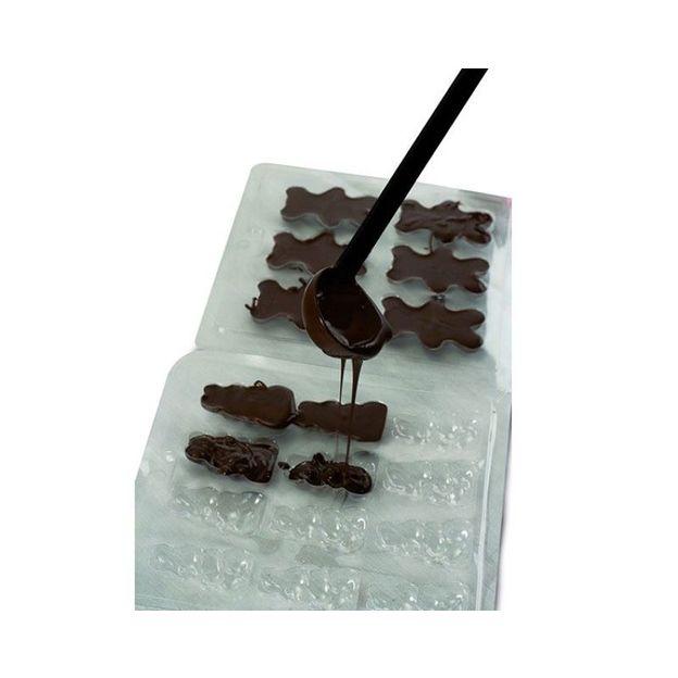 Fondue au chocolat rétro avec moules
