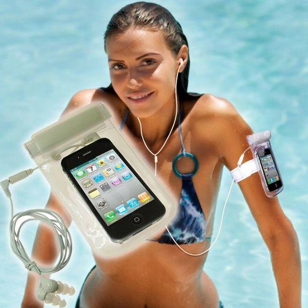 iSWIM - Wasserdichte Schutzhülle mit Kopfhörer