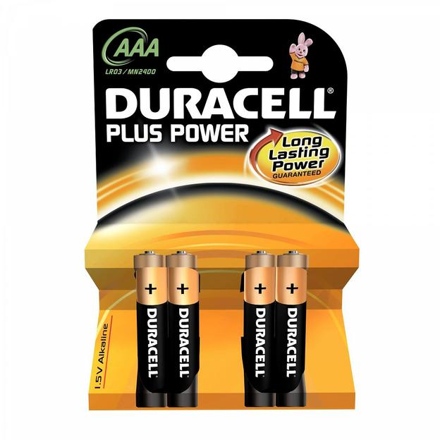 Duracell Plus Power Batterien AAA 4er-Set