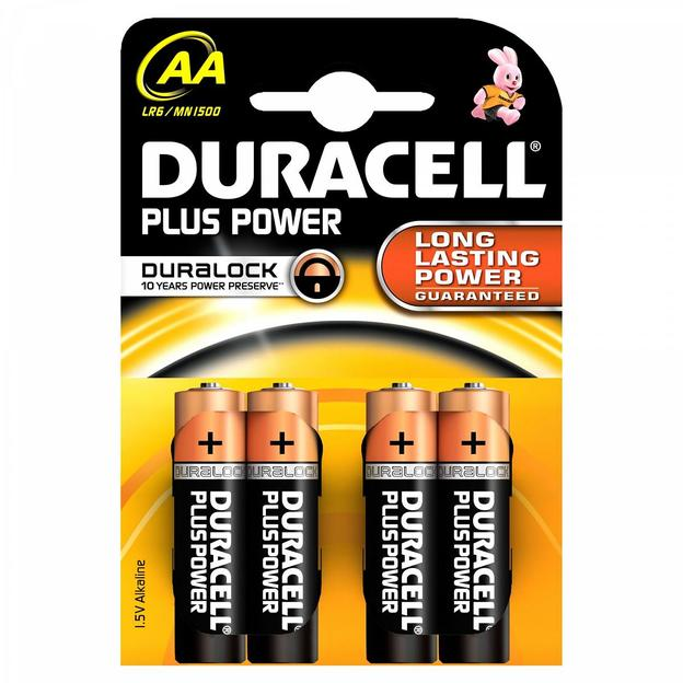 Duracell Plus Power Piles AA, set de 4