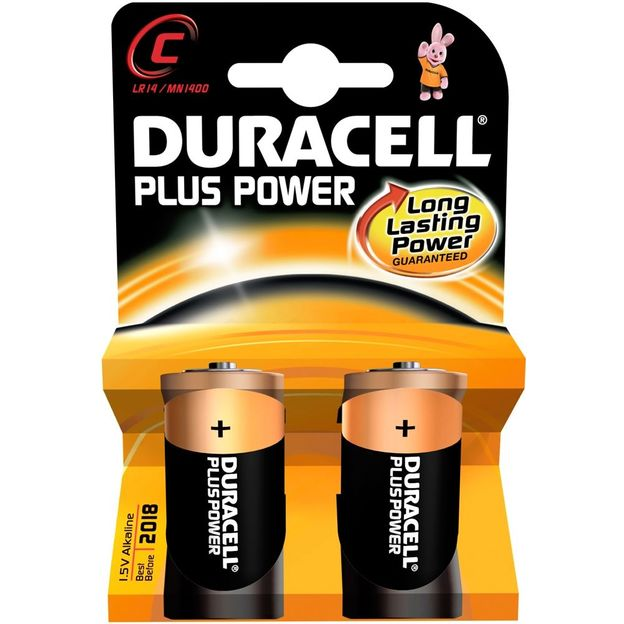 Duracell Plus Power Batterien C  2-er Set