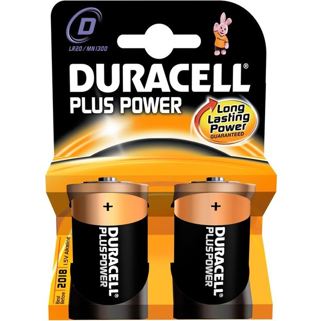 Duracell Plus Power Piles D, set de 2