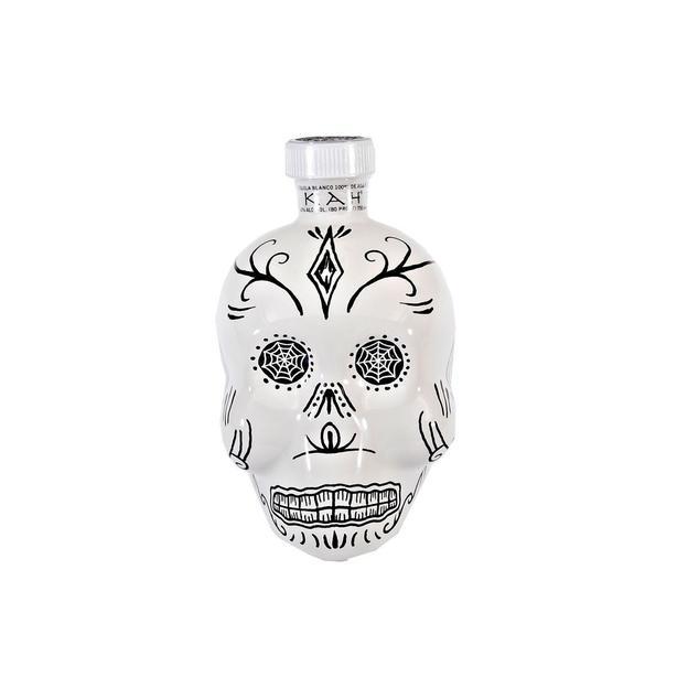 KAH Tequila Totenkopfflasche Blanco