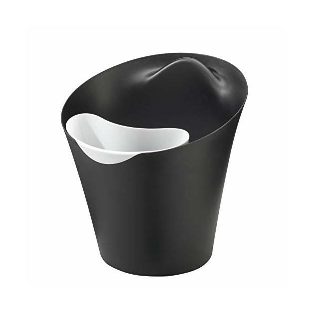 Papierkorb Ba Ba Bin & Bag schwarz von Koziol