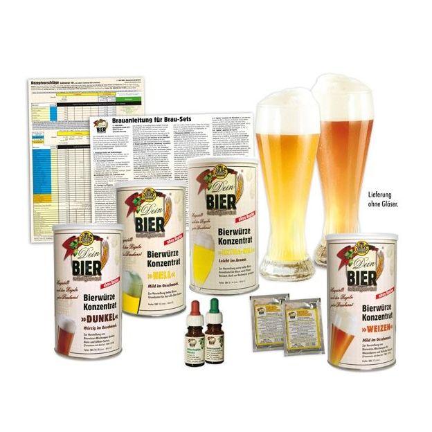 Set Bières de blé blanches / ambrées