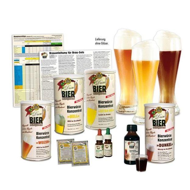 Set bières de blé blanches / ambrées / brunes