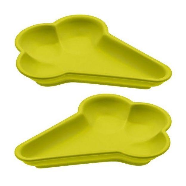 Eis-Schale 2er Set von Koziol senfgrün
