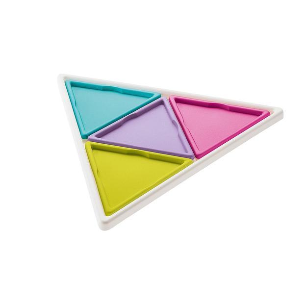 Plateau triangles Prisma de Koziol blanc