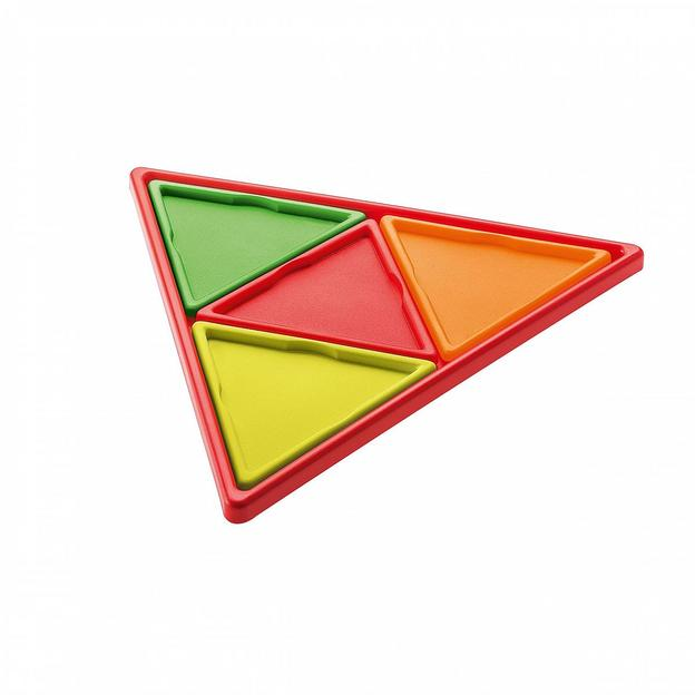 Plateau triangles Prisma de Koziol rouge