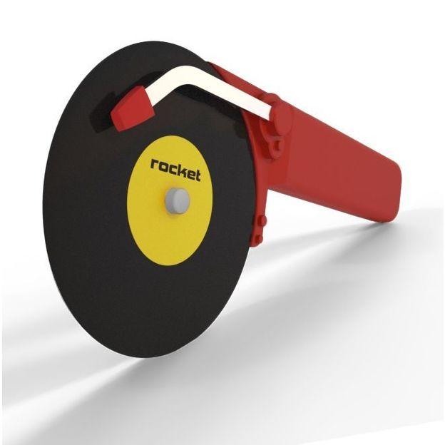 Roulette à pizza au design vinyl