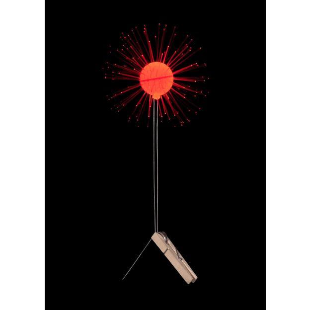 Fleur lumineuse DIY Lichtbloem rouge