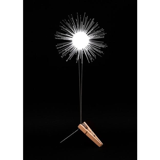 Fleur lumineuse DIY Lichtbloem blanche