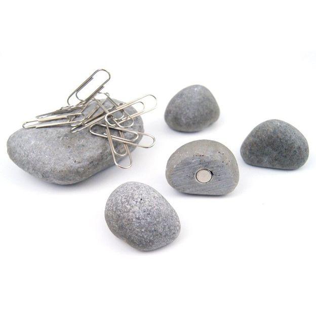 Magnete und Büroklammenhalter in Steinoptik
