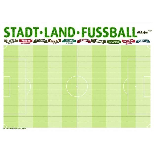 A4 Tischset Stadt-Land-Fussball Spiel 50 Blatt