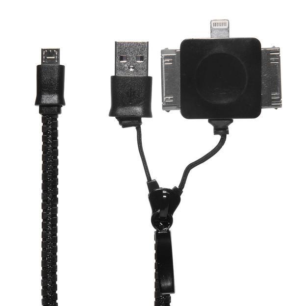 Reissverschluss 4in1 USB Ladekabel