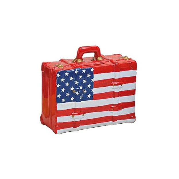Tirelire valise USA