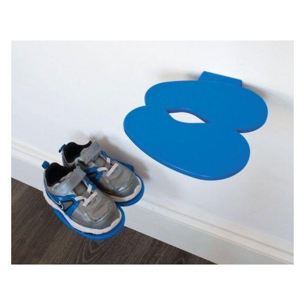 Schuhregal Footprint blau