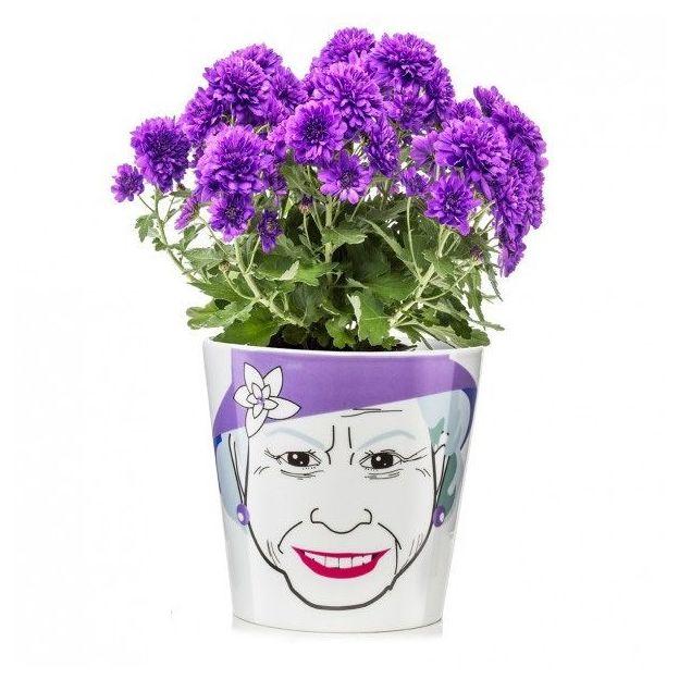Pots de fleur Portrait Flower Queen
