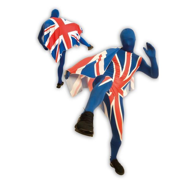 Morphsuit Coupe du Monde Union Jack, Taille L