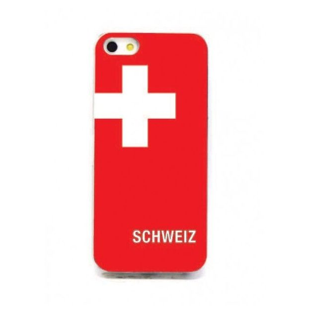 Housse LED iPhone 5 Nations foot Suisse