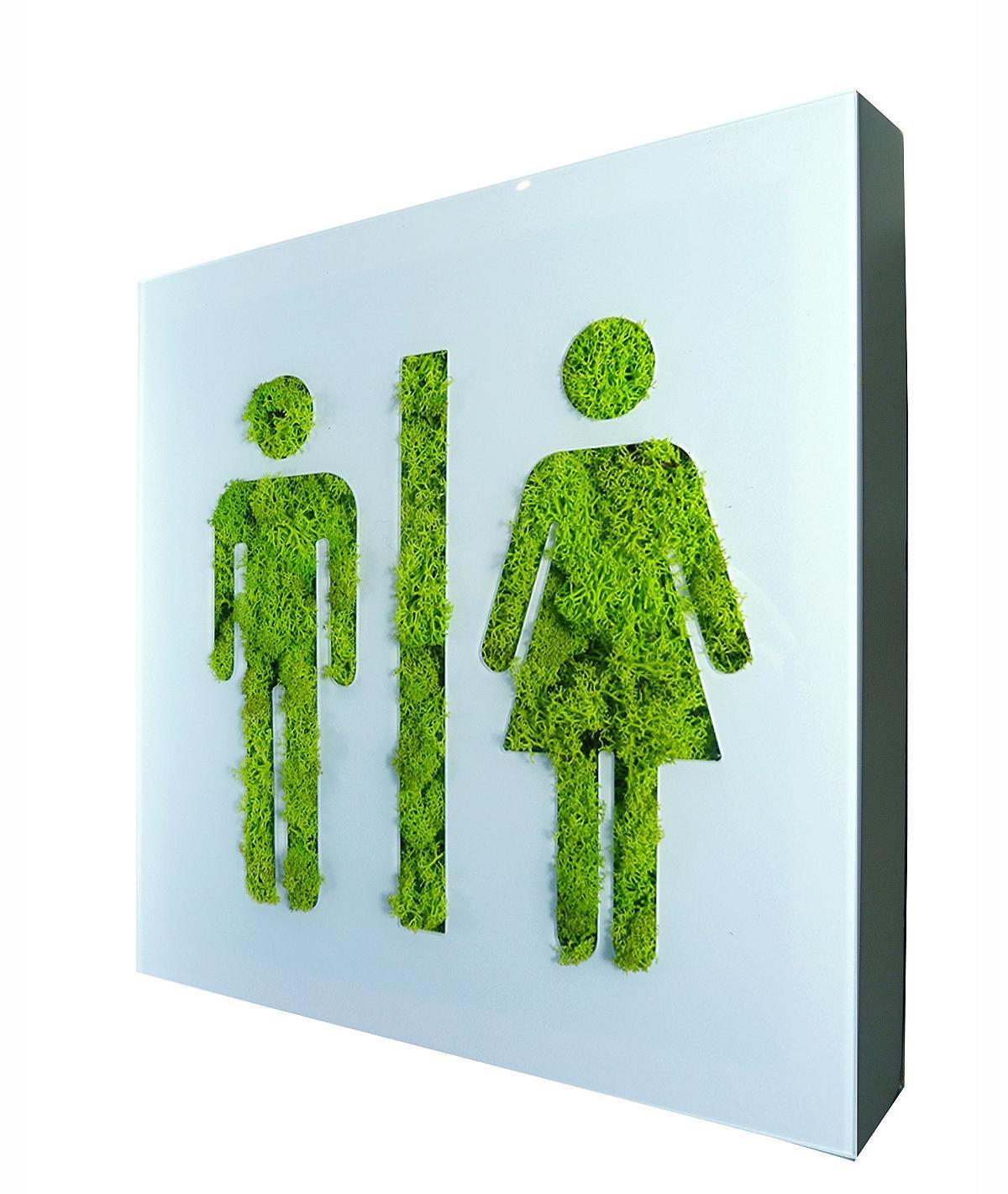 Flowerbox toilettes tableau v g tal for Fabriquer cadre vegetal mural