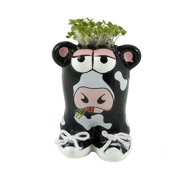 Tierischer Pflanzentopf Kuh