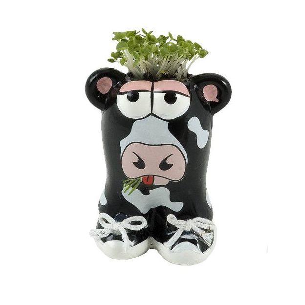 Pot de fleur animal vache