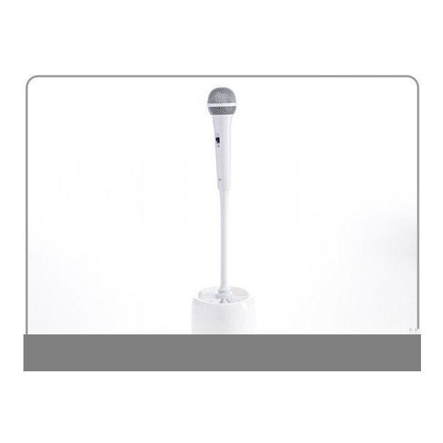 Toilettenbürste Mikrofon weiss