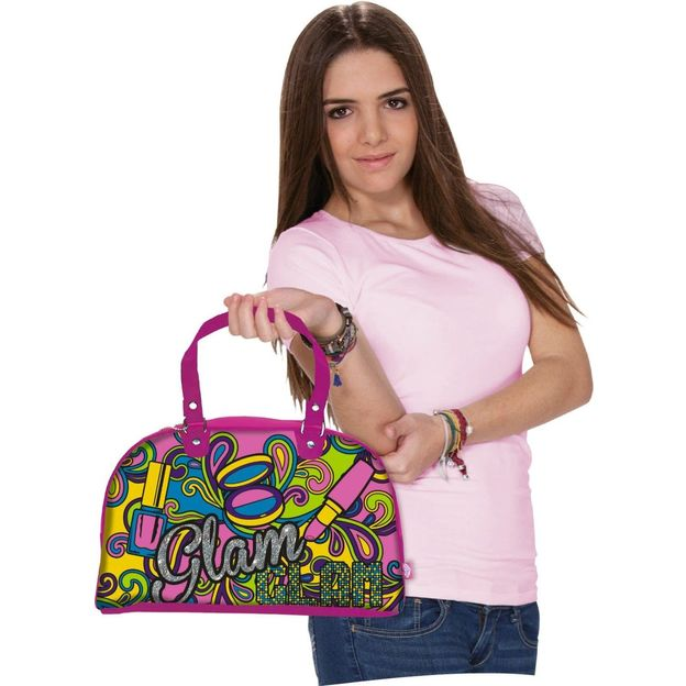 Color me mine Pink the Weekender Tasche zum Ausmalen