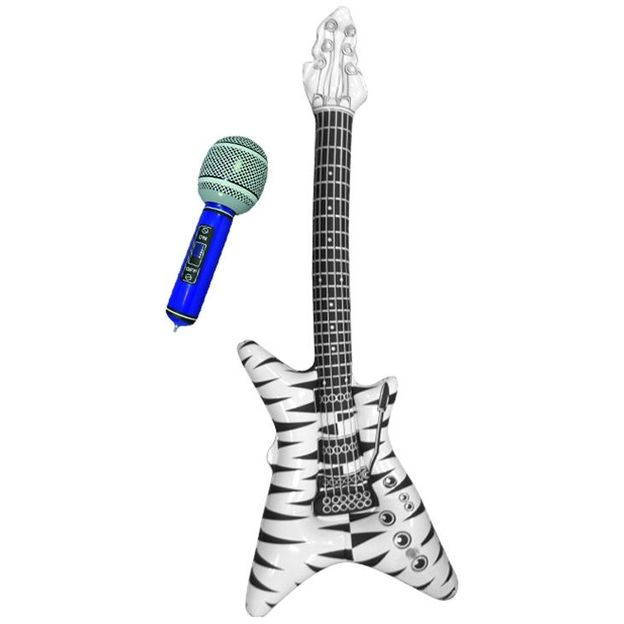 Guitare gonflable avec microphone