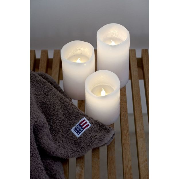 Bougies LED cire Tenna set de 3 blanches
