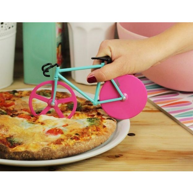 Coupe pizza Vélo fixie rose
