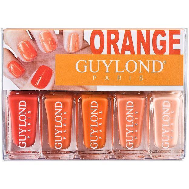 5-teiliges Nagellackset, Orange