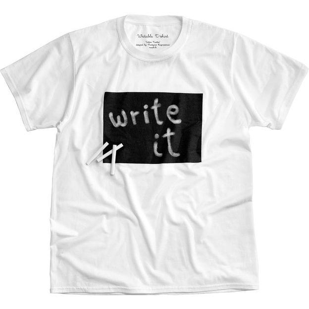 Beschreibbares T-Shirt Cotton Twitter Weiss Frau, Grösse M