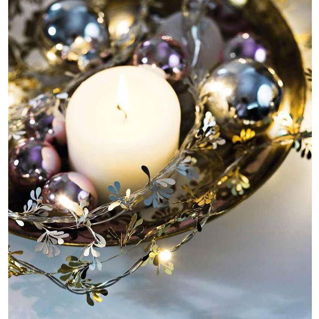 Annet Kranzdeko Lichterkette Silber