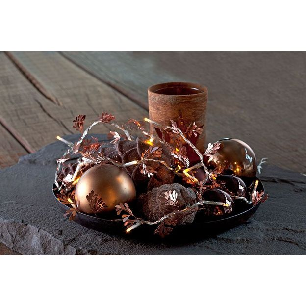 Guirlande couronne lumineuse Annet cuivre