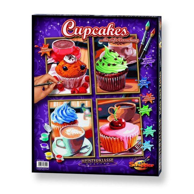 Malen nach Zahlen Cupcakes