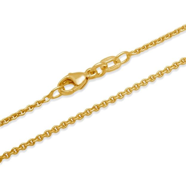 Chaîne en acier inoxydable plaquée or jaune - 40 cm