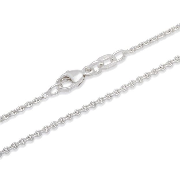 Halskette Edelstahl versilbert - 50cm