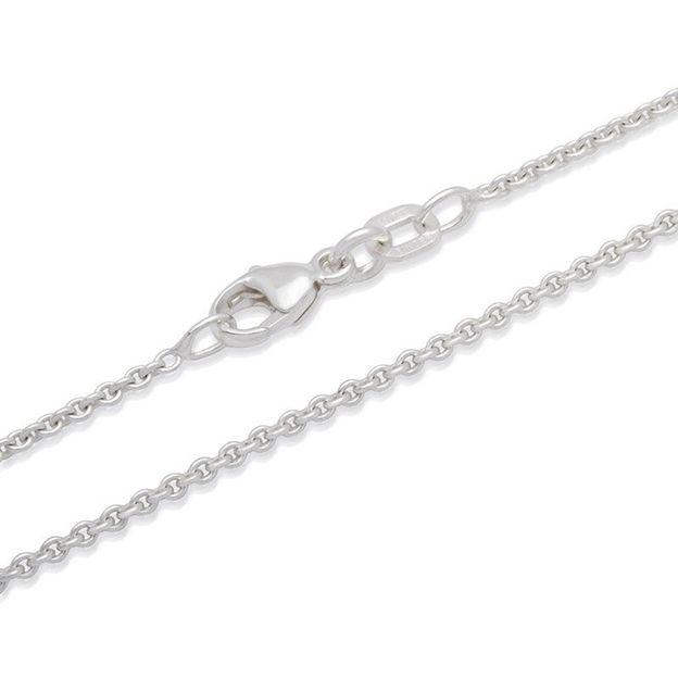 Halskette Edelstahl versilbert - 40cm