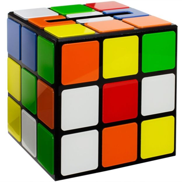 boite mouchoirs rubik 39 s cube big bang theory. Black Bedroom Furniture Sets. Home Design Ideas