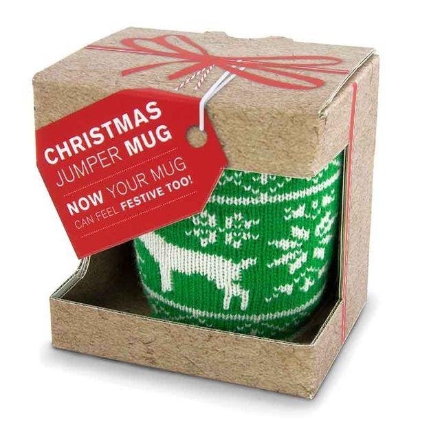 Tasse avec tricot de Noël